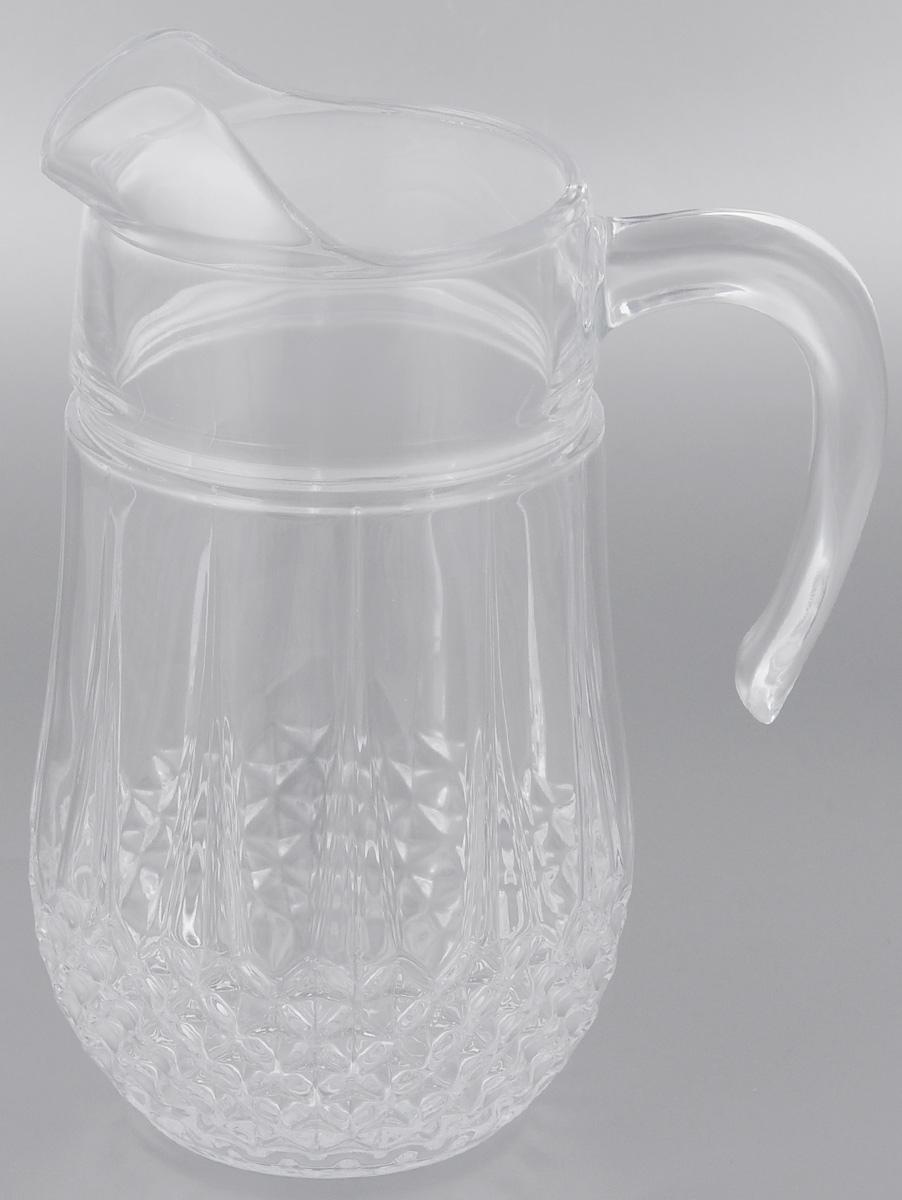 Кувшин Cristal dArques Longchamp, 1,5 лG5220Кувшин Cristal dArques Longchamp выполнен из высококачественного стекла. В нем будет удобно хранить и подавать на стол молоко, соки или воду. Такой кувшин украсит любой кухонный интерьер и станет хорошим подарком для ваших близких. Диаметр кувшина (по верхнему краю): 9 см. Диаметр дна: 8 см. Высота: 23 см.