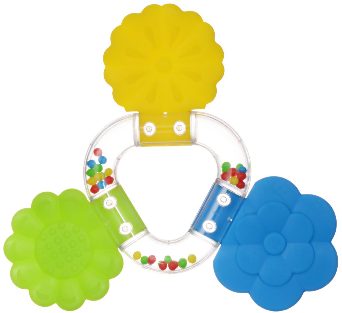 Stellar Погремушка-прорезыватель Букетик цвет синий желтый салатовый01563_салатовый, желтый, синийПрорезыватель - одна из важных игрушек на этапе младенчества. Он помогает разрабатывать жевательные навыки и мимику. Погремушка-прорезыватель Stellar Букетик - яркая и интересная игрушка, которая займет малютку на долгое время, а вам позволит отдохнуть. Центральная часть игрушки наполнена цветными шариками, которые весело шумят при встряхивании. Малыш с удовольствием будет исследовать новую форму, наслаждаясь красивыми цветами.