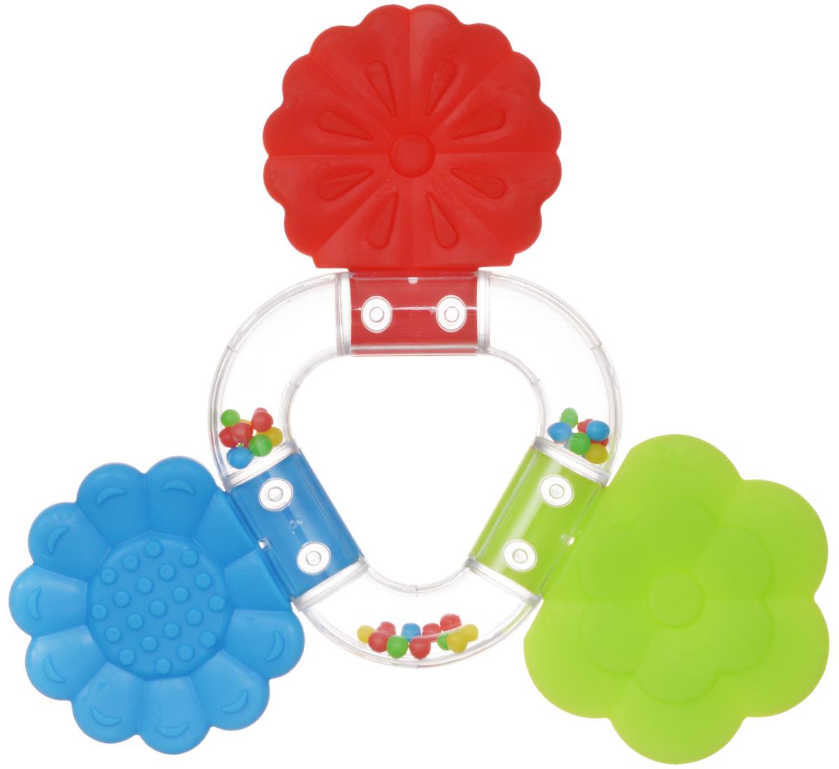 Stellar Погремушка-прорезыватель Букетик цвет красный синий салатовый01563_ красный, синий, салатовыйПрорезыватель - одна из важных игрушек на этапе младенчества. Он помогает разрабатывать жевательные навыки и мимику. Погремушка-прорезыватель Stellar Букетик - яркая и интересная игрушка, которая займет малютку на долгое время, а вам позволит отдохнуть. Центральная часть игрушки наполнена цветными шариками, которые весело шумят при встряхивании. Малыш с удовольствием будет исследовать новую форму, наслаждаясь красивыми цветами.