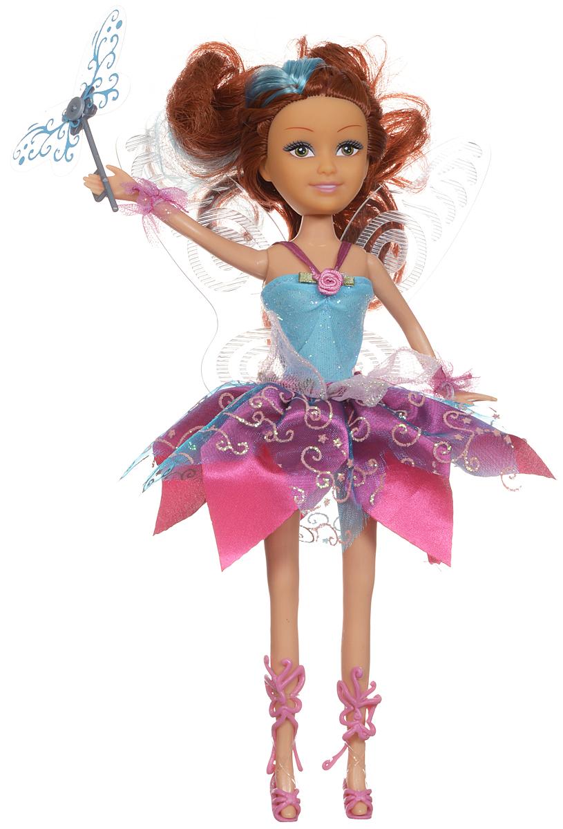 ABtoys Кукла Сумеречная фея цвет платья голубой розовый2400083Восхитительная кукла ABtoys Фея сразу же привлечет внимание своим красивым сказочным нарядом и пышными волосами. Она выполнена из высококачественных материалов и своим видом напоминает очаровательную маленькую фею. Кукла имеет подвижные голову, ручки и ножки. В комплект входит волшебная палочка, с которой игра станет намного интересней - девочка будет придумывать и воспроизводить различные сказочные сюжеты. Куколка оснащена звуковыми эффектами, которые привнесут в игру дополнительную реалистичность. Порадуйте свою дочурку таким подарком! Рекомендуется докупить 3 батарейки типа LR44 (товар комплектуется демонстрационными).