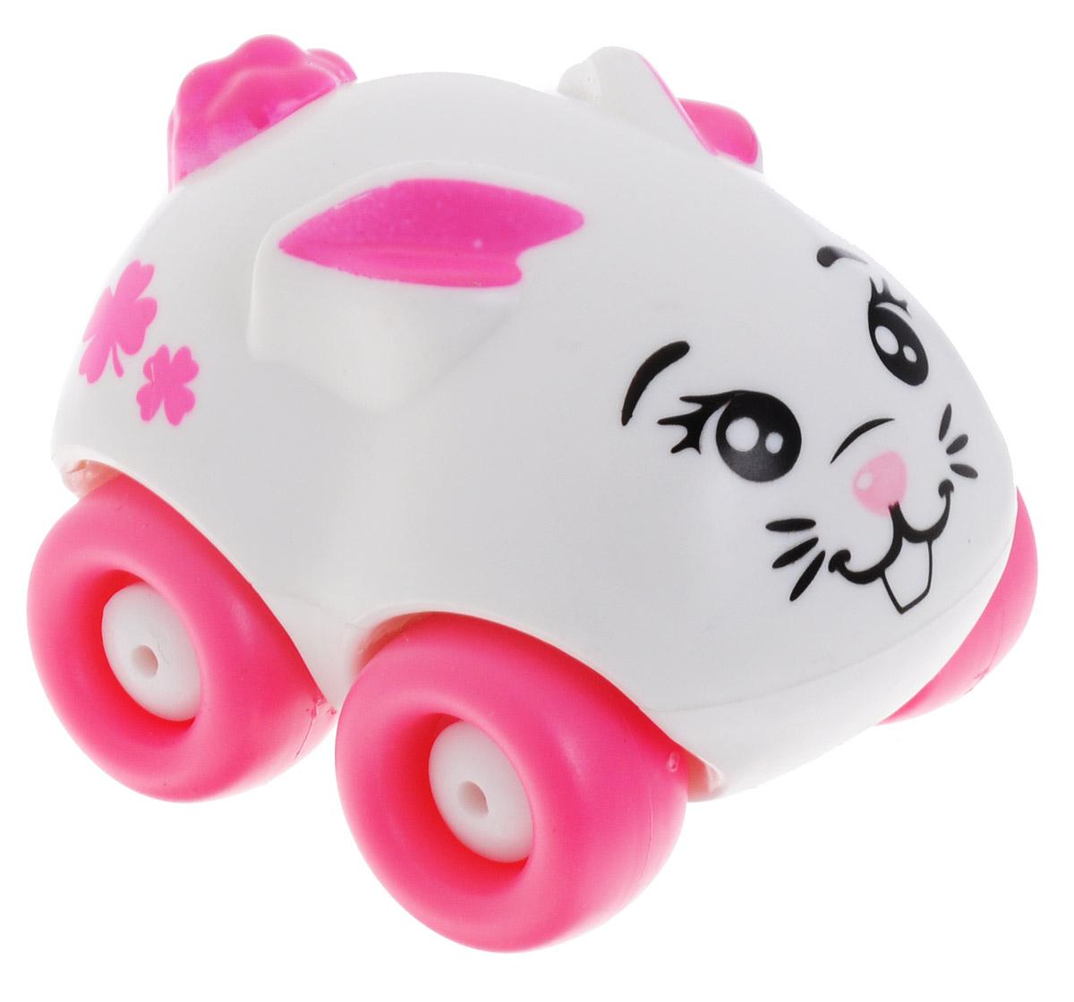Машинка Smoby Animal Planet: Зайчик, цвет: белый, розовый211349_зайчик, белыйМашинка Smoby Animal Planet: Зайчик привлечет внимание вашего ребенка и не позволит ему скучать. Машинка оформлена очаровательной мордочкой кролика, а также дополнена двумя длинными ушками и небольшим хвостиком. Колесики машинки вращаются. Игрушка выполнены из прочного пластика и не имеют острых граней, что делает их безопасными для игры. Игры с такой машинкой развивают концентрацию внимания, координацию движений, мелкую и крупную моторику, цветовое восприятие и воображение. Малыш будет часами играть с машинкой-зверюшкой, придумывая разные истории. Порадуйте своего ребенка таким замечательным подарком!