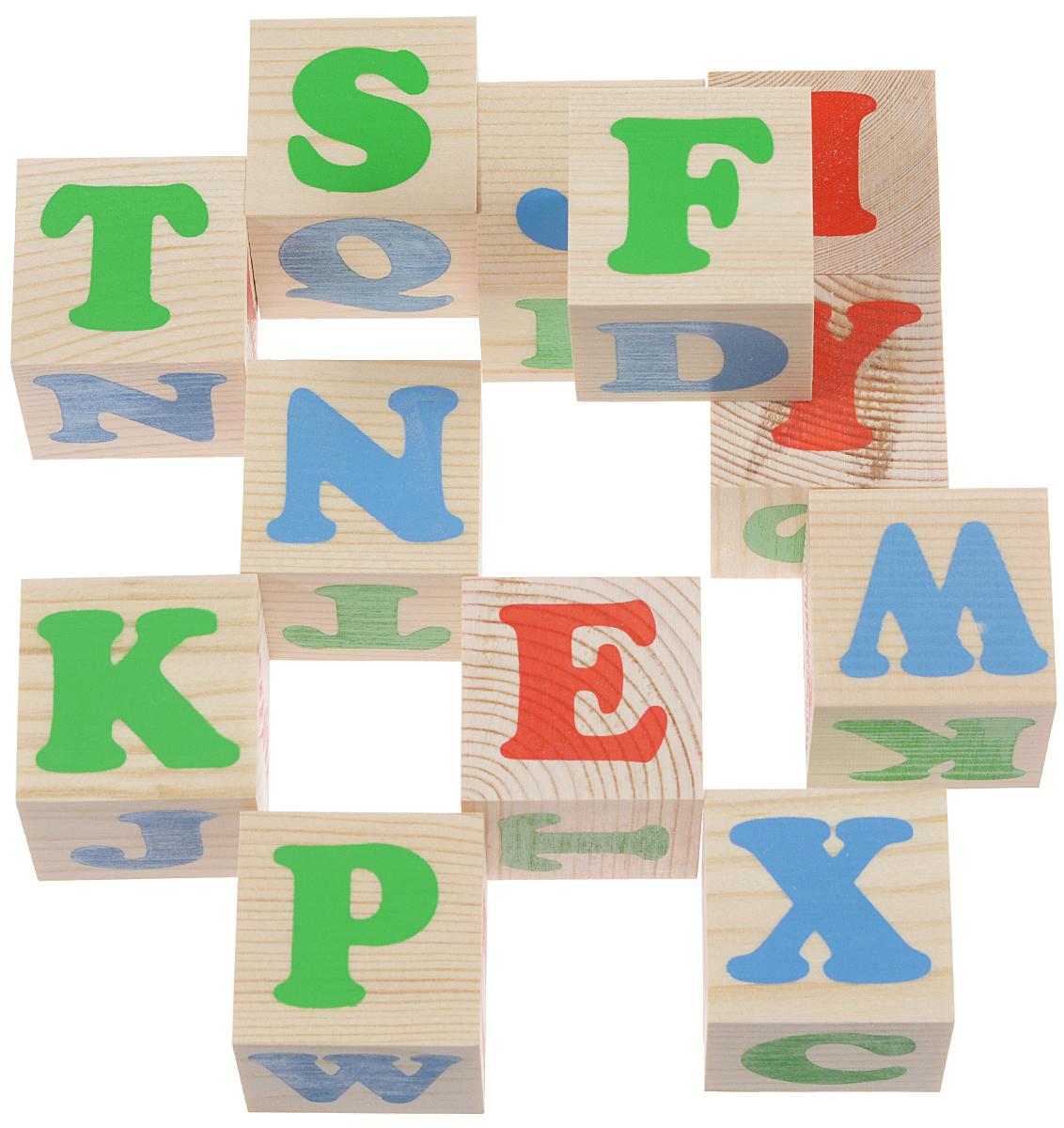 Томик Кубики Алфавит английский1111-2Кубики Томик Алфавит английский - это замечательный набор деревянных кубиков, на которых изображены буквы английского алфавита. С помощью этих кубиков ребенок познакомится с буквами английского алфавита, научится составлять из них слова. Кроме того из кубиков можно строить башни, дома, арки и многое другое. Небольшие размеры кубиков позволяют играть с ними даже самым маленьким. Изготовлены из экологически чистого материала - древесины. Рисунки, нанесенные способом шелкографии - надежны и долговечны. Кубики развивают логическое мышление, наглядно-образное мышление, память, мелкую моторику рук, внимание. Они станут хорошей подготовкой к школе.