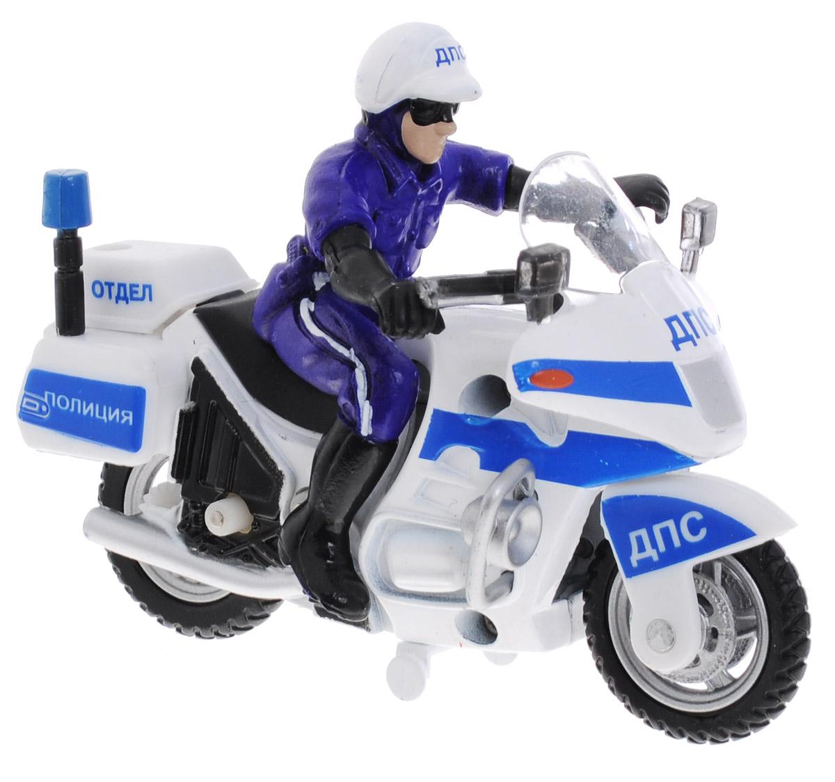 ТехноПарк Мотоцикл с фигуркой Полиция ДПС 8 отделCT-1247Мотоцикл с фигуркой ТехноПарк Полиция ДПС 8 отдел привлечет внимание вашего ребенка и не позволит ему скучать. Игрушка выполнена из пластика в виде полицейского мотоцикла с инспектором ДПС. Игрушка оснащена инерционным механизмом: стоит откатить мотоцикл назад, затем отпустить - он поедет вперед. Ребенок с удовольствием будет играть с этой игрушкой, придумывая разные истории. Порадуйте его таким замечательным подарком!