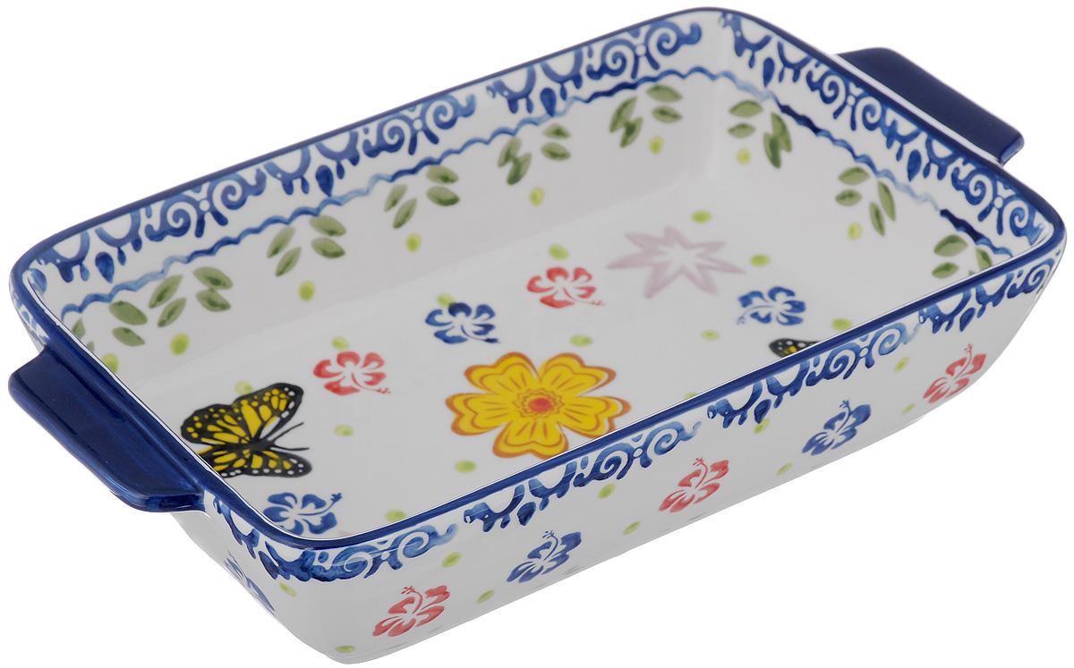 Блюдо для запекания Elan Gallery Бабочки, прямоугольное, 28 х 16 см830158Блюдо для запекания Elan Gallery Бабочки, изготовленное из высококачественной жаропрочной керамики, идеально подойдет для приготовления блюд в духовке, а также сервировки стола. Блюдо станет отличным дополнением к вашему кухонному инвентарю и подчеркнет прекрасный вкус. Можно использовать в духовом шкафу и микроволновой печи. Размер по верхнему краю (с учетом ручек): 28 х 16 см. Высота стенки: 6 см.