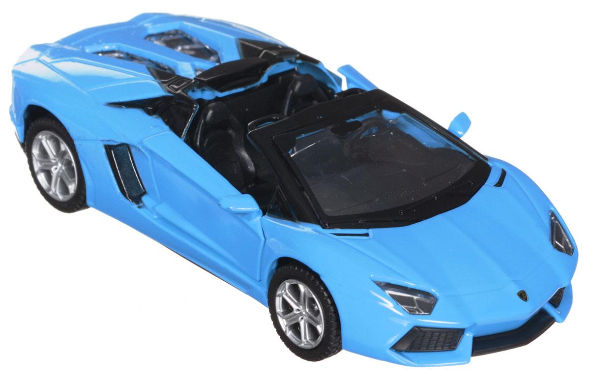 ТехноПарк Модель автомобиля Lamborghini Aventador LP 700-467320_голубойМодель автомобиля ТехноПарк Lamborghini Aventador LP 700-4 Roadster, выполненная из металла, пластика и резины, станет любимой игрушкой вашего малыша. Игрушка представляет собой модель автомобиля Lamborghini Aventador LP 700-4 Roadster в масштабе 1:43. Дверцы модели открываются, а прорезиненные колеса обеспечивают надежное сцепление с любой поверхностью пола. Модель оснащена инерционным ходом: достаточно немного отвести ее назад, а затем отпустить - машинка быстро поедет вперед. Ваш ребенок будет часами играть с этой машинкой, придумывая различные истории. Порадуйте его таким замечательным подарком!