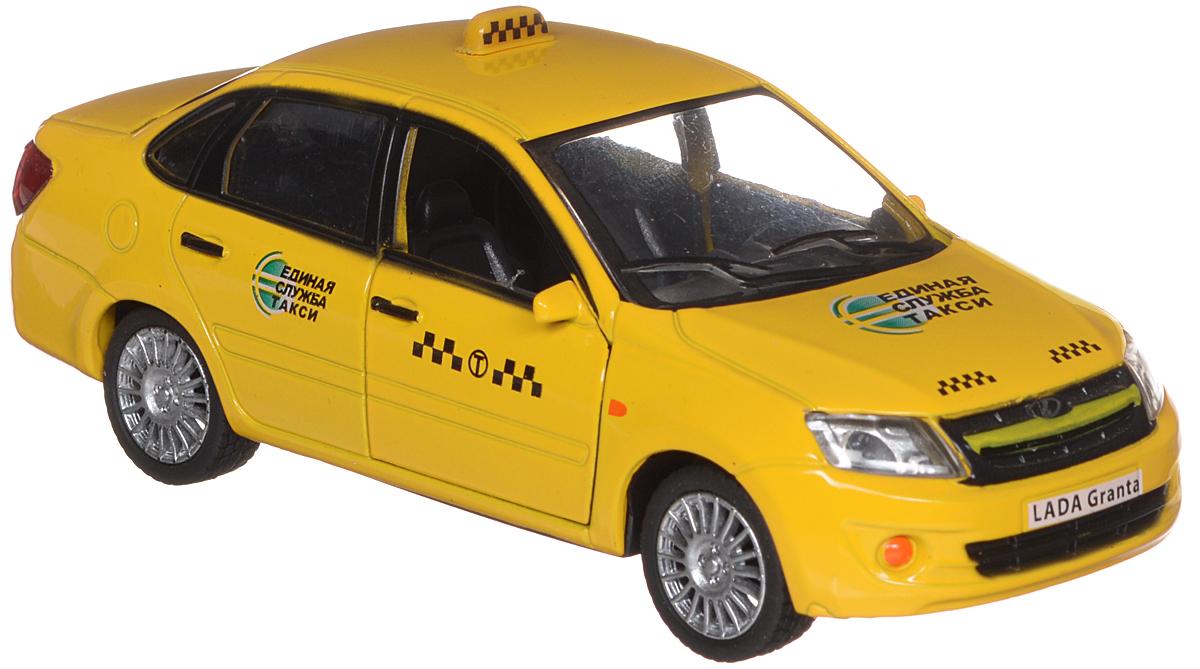 Carline Модель автомобиля Lada Granta ТаксиGT6609Модель автомобиля Carline Lada Granta. Такси представляет собой точную копию настоящего служебного автомобиля. Машинка изготовлена из металла с элементами пластика и оснащена инерционным механизмом, а также световыми и звуковыми эффектами, что сделает игровой процесс еще более увлекательным. У нее открываются двери и вращаются колеса. Модель автомобиля Carline Lada Granta. Такси является отличным подарком не только ребенку, но и коллекционеру. Рекомендуется докупить 3 батарейки типа LR44 (товар комплектуется демонстрационными).