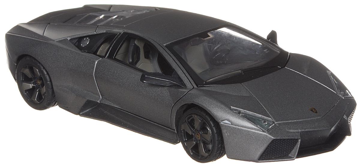 Rastar Модель автомобиля Lamborghini Reventon34800Модель автомобиля Rastar Lamborghini Reventon привлечет внимание не только ребенка, но и взрослого коллекционера. Машинка является точной уменьшенной копией настоящего автомобиля, воспроизведенной в масштабе 1:24. Модель выполнена из металла с использованием пластика и оснащена резиновыми колесами, обеспечивающими хорошее сцепление с поверхностью пола. Внутренний интерьер воссоздан с необыкновенной точностью. Колеса и руль модели вращаются, багажник и дверцы открываются. Модель автомобиля Rastar Lamborghini Reventon станет отличным подарком и украшением любой коллекции!