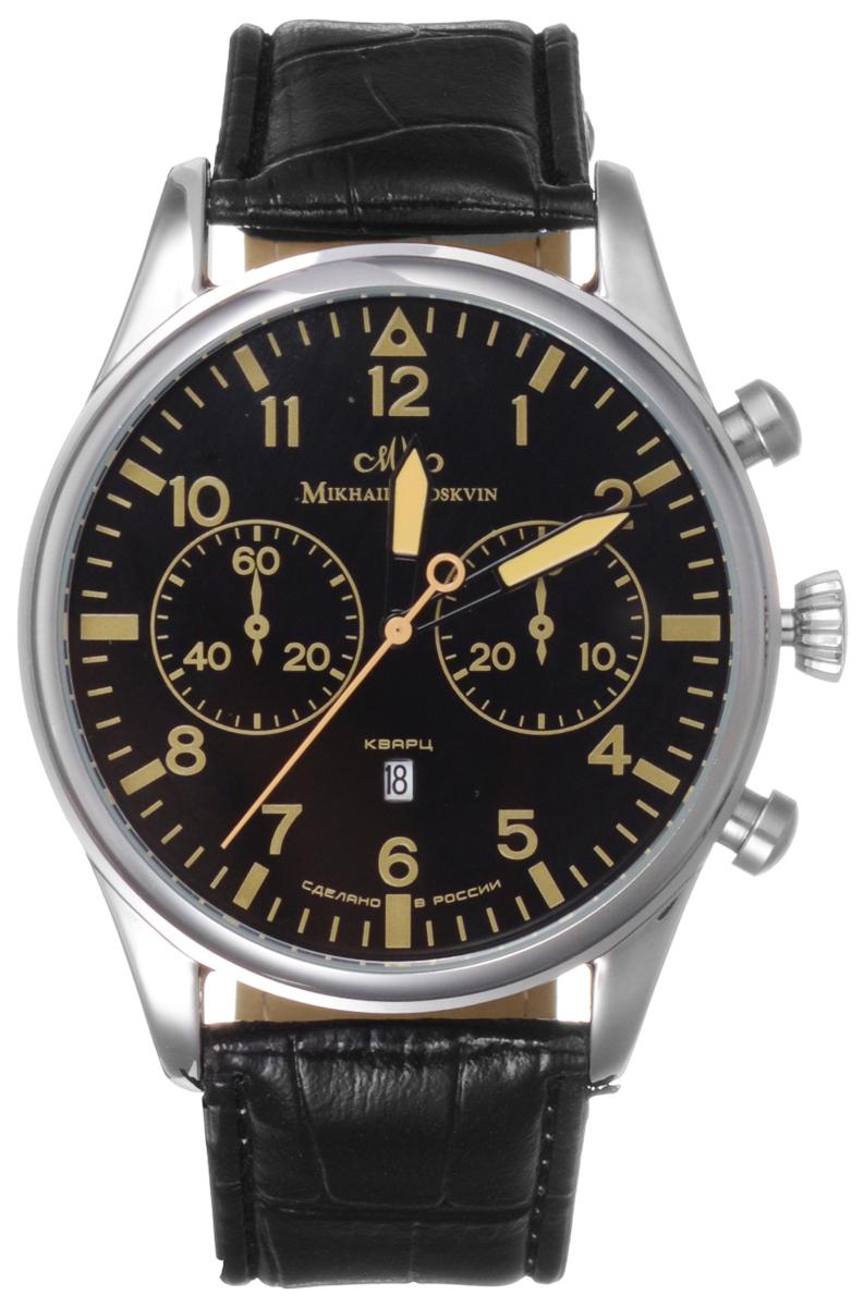 Часы мужские наручные Mikhail Moskvin, цвет: серебряный, черный, желтый. 1203A1L41203A1L4Стильные мужские часы Mikhail Moskvin изготовлены из высокотехнологичной гипоаллергенной нержавеющей стали и минерального стекла. Циферблат изделия оформлен символикой бренда. Корпус часов оснащен кварцевым механизмом, степенью влагозащиты равной 3 Bar, а также устойчивым к царапинам минеральным стеклом. Дополнительные функции часов: индикатор даты, суточное время. На стрелки часов нанесен светящийся состав. Ремешок часов застегивается на классическую пряжку, которая позволит с легкостью снимать и надевать часы. Часы поставляются в фирменной упаковке. Часы Mikhail Moskvin подчеркнут мужской характер и отменное чувство стиля их обладателя.