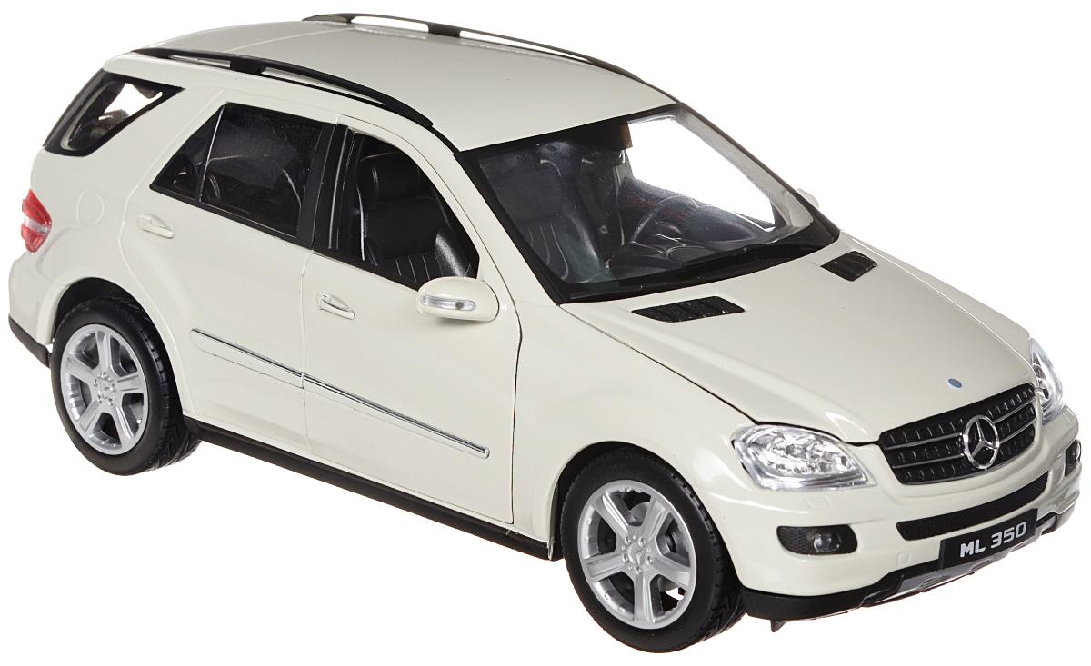 Welly Модель автомобиля Mercedes-Benz ML35018006Стильная модель автомобиля Mercedes-Benz ML350 привлечет внимание не только ребенка, но и взрослого. Модель является точной уменьшенной копией известного автомобиля, у нее открываются двери, а также поднимаются капот и багажник. Колеса машинки поворачиваются вместе с рулем. Корпус машинки выполнен из металла, а шины из настоящей резины. Такая модель станет отличным подарком не только любителю автомобилей, но и человеку, ценящему оригинальность и изысканность, а качество исполнения представит такой подарок в самом лучшем свете.