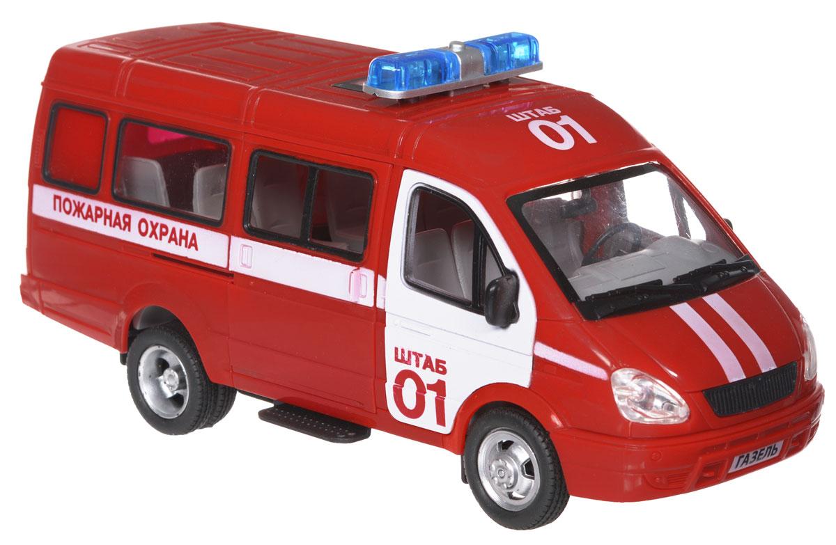 Joy Toy Машина инерционная Газель Пожарная охранаA071-H11019Инерционная машина Joy Toy Газель: Пожарная охрана станет любимой игрушкой вашего малыша. Игрушка выполнена в виде модели автомобиля Газель Пожарная охрана в масштабе 1:27. Передние и боковая дверцы машины открываются, салон детализирован. Имеются световые и звуковые эффекты. Игрушка оснащена инерционным ходом. Машину необходимо подтолкнуть вперед или назад, а затем отпустить - и она быстро поедет в том же направлении. Ваш ребенок будет часами играть с этой игрушкой, придумывая различные истории. Порадуйте его таким замечательным подарком! Для работы игрушки необходимы 3 батарейки типа AG13 (LR44) (товар комплектуется демонстрационными).