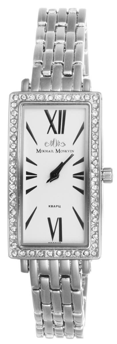 Часы женские наручные Mikhail Moskvin Каприз, цвет: серебряный, белый. 598-6-1598-6-1Стильные женские часы Mikhail Moskvin изготовлены из нержавеющей стали и минерального стекла. Циферблат изделия оформлен символикой бренда, корпус изделия инкрустирован стразами. Корпус часов оснащен кварцевым механизмом, который имеет степень влагозащиты равную 3 Bar, а также устойчивым к царапинам минеральным стеклом. Практичный складной замок, предусмотренный в конструкции браслета, позволит с легкостью снимать и надевать часы. Часы поставляются в фирменной упаковке. Часы Mikhail Moskvin подчеркнут изящность женской руки и отменное чувство стиля у их обладательницы.