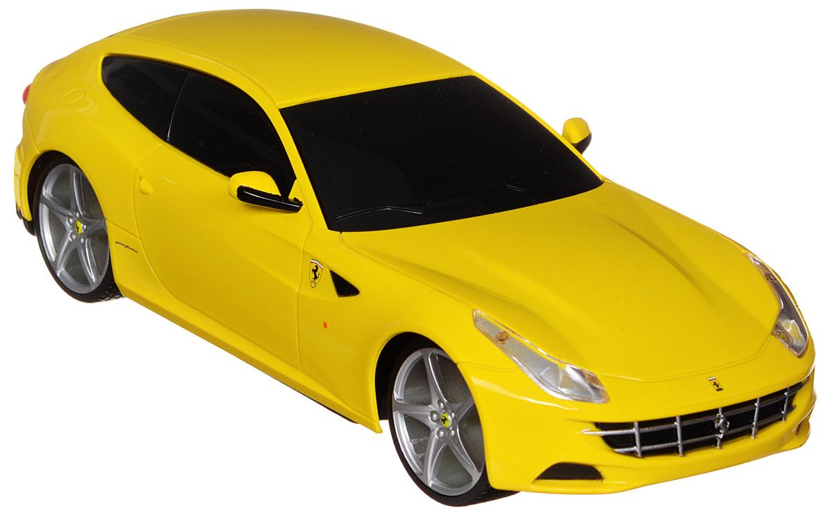 Maisto Радиоуправляемая модель Ferarri FF цвет желтый81059_ желтыйРадиоуправляемая модель Maisto Ferarri FF с ярким привлекающим внимание дизайном обязательно понравится всем любителям красивых гоночных машин. Корпус выполнен из высококачественного пластика. Машина представляет собой копию настоящего автомобиля, выполненную в масштабе 1/24. Модель обладает высокой детализацией. Двигается во всех направлениях: вперед, назад, влево, вправо. Имеются световые эффекты: светятся передние фары. Пульт управления работает на частоте 27 MHz. В комплекте пульт и инструкция по эксплуатации на русском языке. Для работы машины необходимо докупить 2 батарейки напряжением 1,5V типа АА (не входят в комплект). Для работы пульта управления необходимо докупить 2 батарейки напряжением 1,5V типа ААА (не входят в комплект).