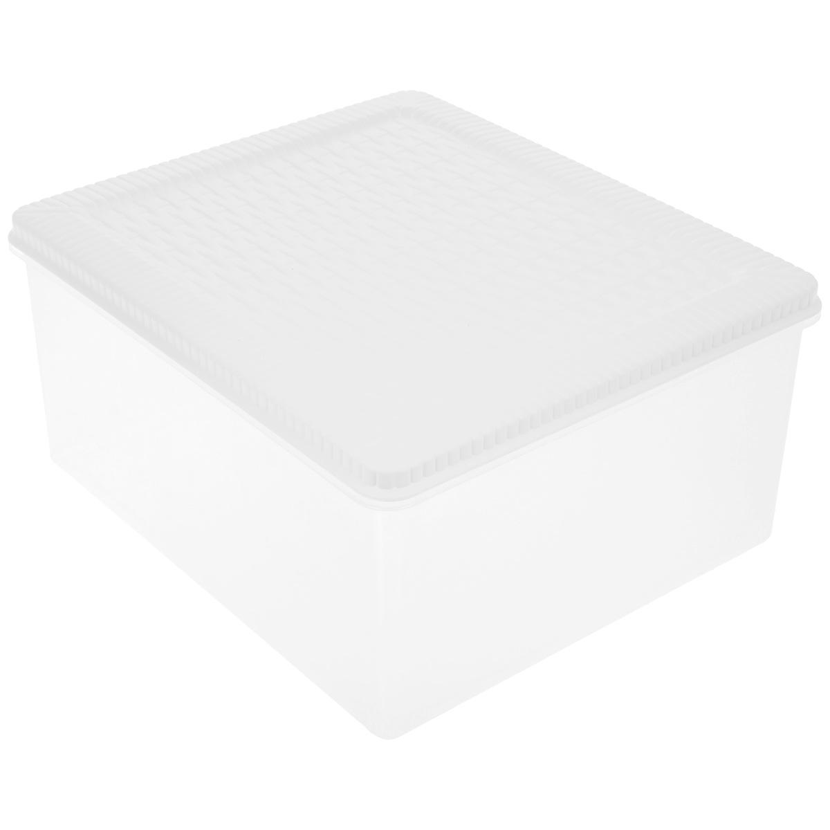 Контейнер хозяйственный Gensini Rattan, с крышкой, цвет: белый, прозрачный, 10 л2178_белыйУниверсальный контейнер Gensini Rattan прямоугольной формы прекрасно подойдет для хранения небольших игрушек в детской комнате, бумаг и документов, инструментов и многого другого. Он изготовлен из высококачественного пластика. Благодаря прозрачности вы всегда сможете видеть содержимое контейнера и без труда отыщите нужную вам вещь. Контейнер плотно закрывается крышкой. Удобный и легкий контейнер позволит вам хранить вещи в полном порядке, а благодаря современному дизайну он впишется в любой интерьер.