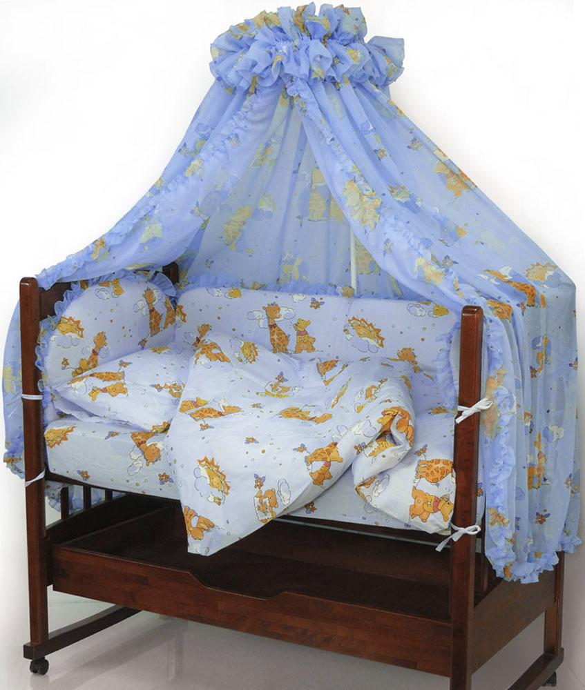 Топотушки Комплект белья для новорожденных Жираф Вилли цвет голубой 3 предмета4630008870631Комплект белья для новорожденных Топотушки Жираф Вилли выполнен в нежных тонах и украшен забавным рисунком. Комплект белья Жираф Вилли создаст комфорт и уют в кроватке малыша и обеспечит крепкий и здоровый сон, а современный дизайн и цветовые сочетания помогут ребенку адаптироваться в новом для него мире. Комплект белья для новорожденных Топотушки Жираф Вилли хорошо впишется в интерьер как детской комнаты, так и спальни родителей. Цветовые и дизайнерские решения - плоды совместных трудов европейских дизайнеров и российских технологов - делают внешний вид комплекта роскошным и незабываемым. Качество материала обеспечивает легкость стирки и долговечность. Комплект включает в себя наволочку 60 см х 40 см, пододеяльник 146 см х 104 см, простыню на резинке 60 см х 120 см.
