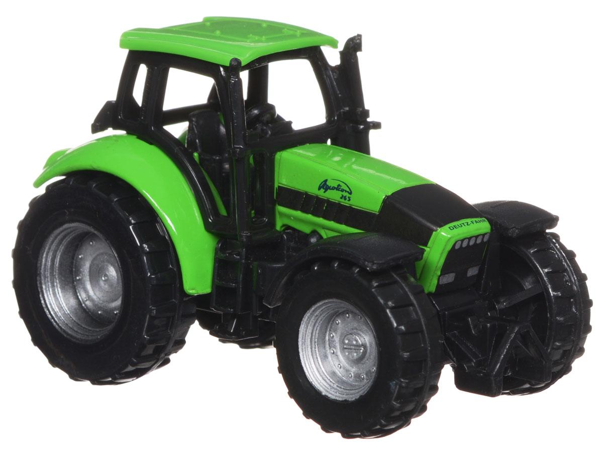 Siku Трактор Deutz-Fahr Agrotron0859Трактор Deutz-Fahr Agrotron выполнен в виде копии настоящей сельскохозяйственной техники. Такая модель понравится не только ребенку, но и взрослому и приятно удивит высочайшим качеством исполнения. Корпус трактора выполнен из металла, пластиковые колеса вращаются. Модель отличается великолепным качеством исполнения и детальной проработкой, она станет интересной игрушкой для ребенка, интересующегося автотехникой.