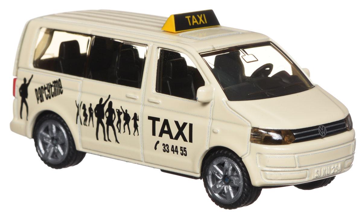 Siku Такси микроавтобус1360Машинка Siku Такси выполнена в виде вместительного микроавтобуса. Такая модель понравится не только ребенку, но и взрослому и приятно удивит вас высочайшим качеством исполнения. Корпус машинки выполнен из металла, стекла кабины выполнены из прозрачного пластика. Колеса машины вращаются, а задняя дверь - открывается. Модель отличается великолепным качеством исполнения и детальной проработкой, она станет отличной игрушкой для ребенка, интересующегося автотехникой.