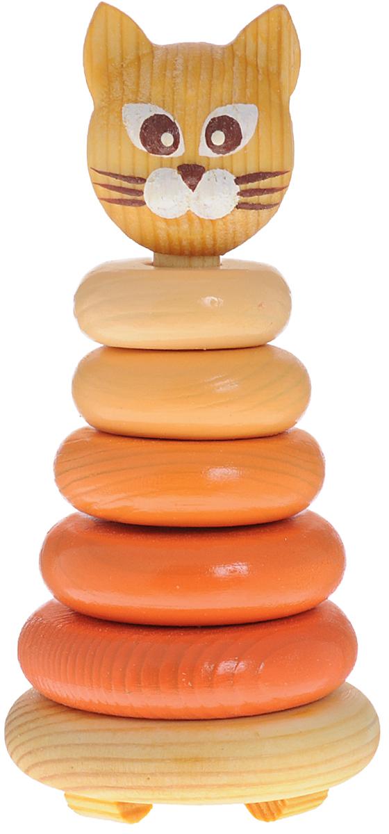 Томик Пирамидка Котенок501С пирамидкой Томик Котенок вы легко научите малыша различать цвета, понятия больше - меньше. Пирамидка развивает мелкую моторику, логическое мышление и координацию движения. Дерево, из которого выполнены детали, стимулирует тактильную чувствительность, а специальные округлые ножки позволят избежать травм, если малыш случайно наступит на игрушку.