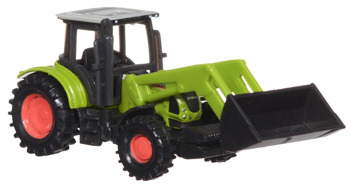 Siku Погрузчик фронтальный Class Ares1335Погрузчик фронтальный Class Ares выполнен в виде копии настоящей техники. Такая модель понравится не только ребенку, но и взрослому и приятно удивит высочайшим качеством исполнения. Корпус трактора-погрузчика выполнен из металла, пластиковые колеса вращаются. Кран поднимается и опускается. Модель отличается великолепным качеством исполнения и детальной проработкой, она станет отличной игрушкой для ребенка, интересующегося автотехникой.