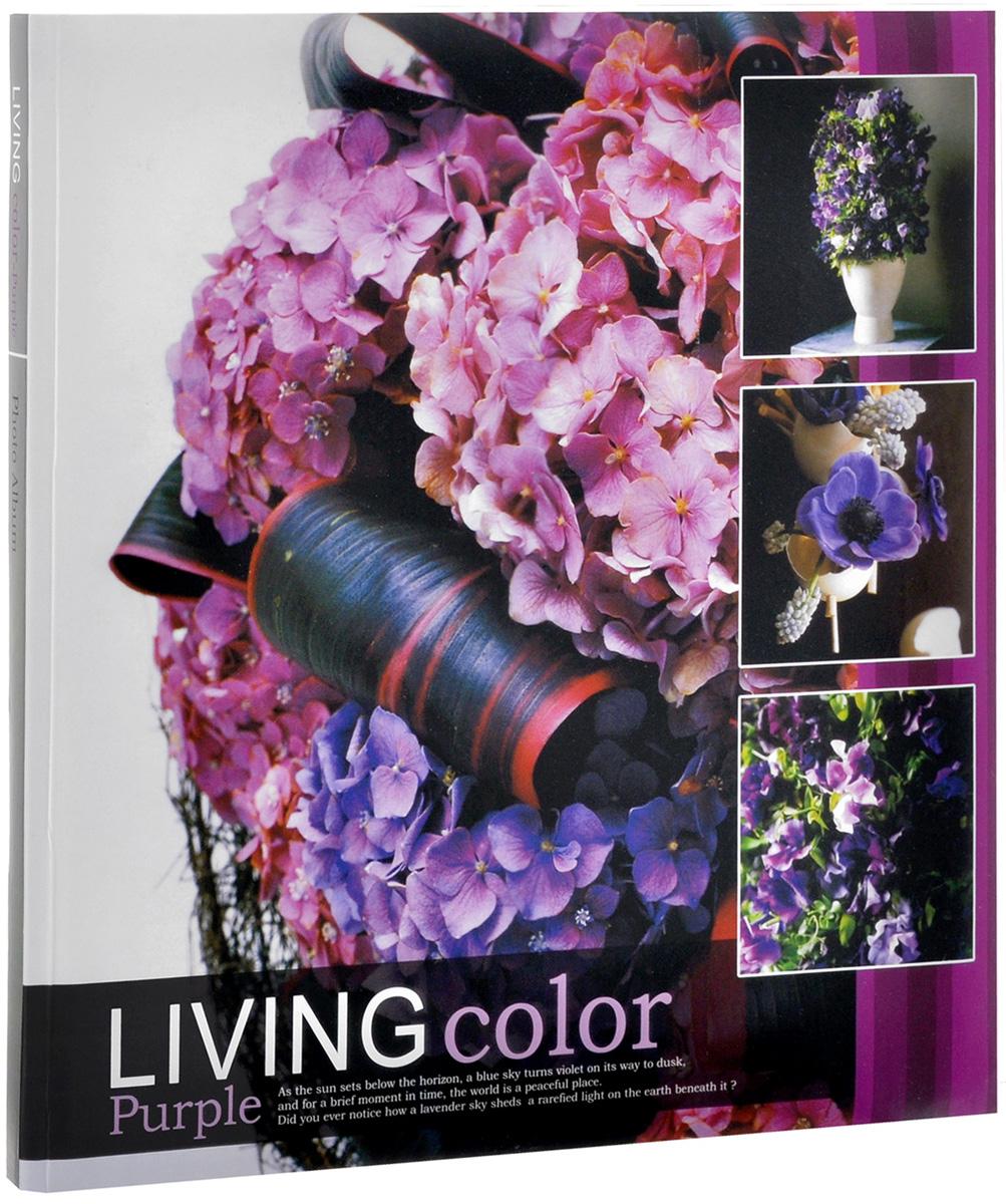 """Фотоальбом Pioneer """"Living Color. Фиолетовые цветы"""", 10 магнитных листов, 32 х 32 см 21155_сиреневые цветы"""