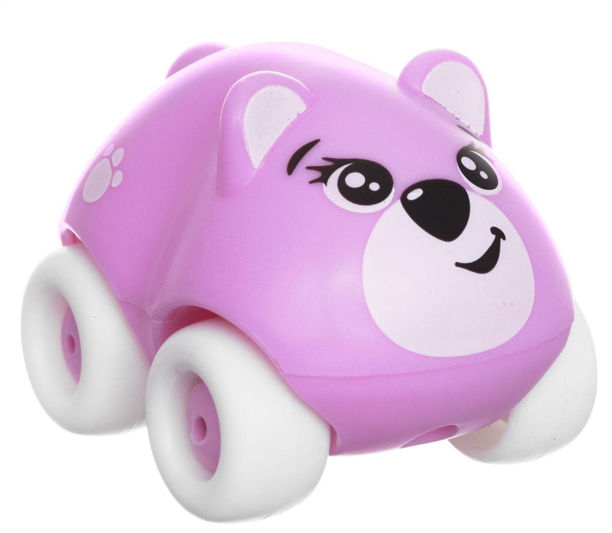 Smoby Машинка Animal Planet Мишка211349_мишка, св.сиреневыйМашинка Smoby Animal Planet. Мишка привлечет внимание вашего ребенка и не позволит ему скучать. Машинка оформлена очаровательной мордочкой медвежонка, дополнена двумя круглыми ушками и небольшим хвостиком. Колесики машинки вращаются. Игрушка выполнена из прочного пластика и не имеют острых граней, что делает ее безопасной для игры малышей. Игры с такой машинкой развивают концентрацию внимания, координацию движений, мелкую и крупную моторику, цветовое восприятие и воображение. Малыш будет часами играть с машинкой-зверюшкой, придумывая разные истории. Порадуйте своего ребенка таким замечательным подарком!