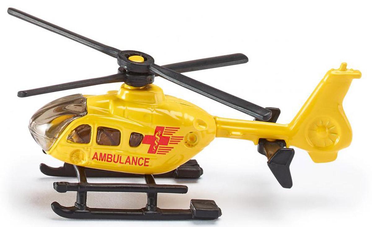 Siku Вертолет Ambulance0856Вертолет Siku Ambulance выполнен из металла с элементами из пластика. Несущий винт вертолета крутится. Такая модель понравится не только ребенку, но и взрослому коллекционеру, и приятно удивит вас высочайшим качеством исполнения. Вертолет станет интересной игрушкой для ребенка, интересующегося летательными аппаратами, и займет достойное место в коллекции.