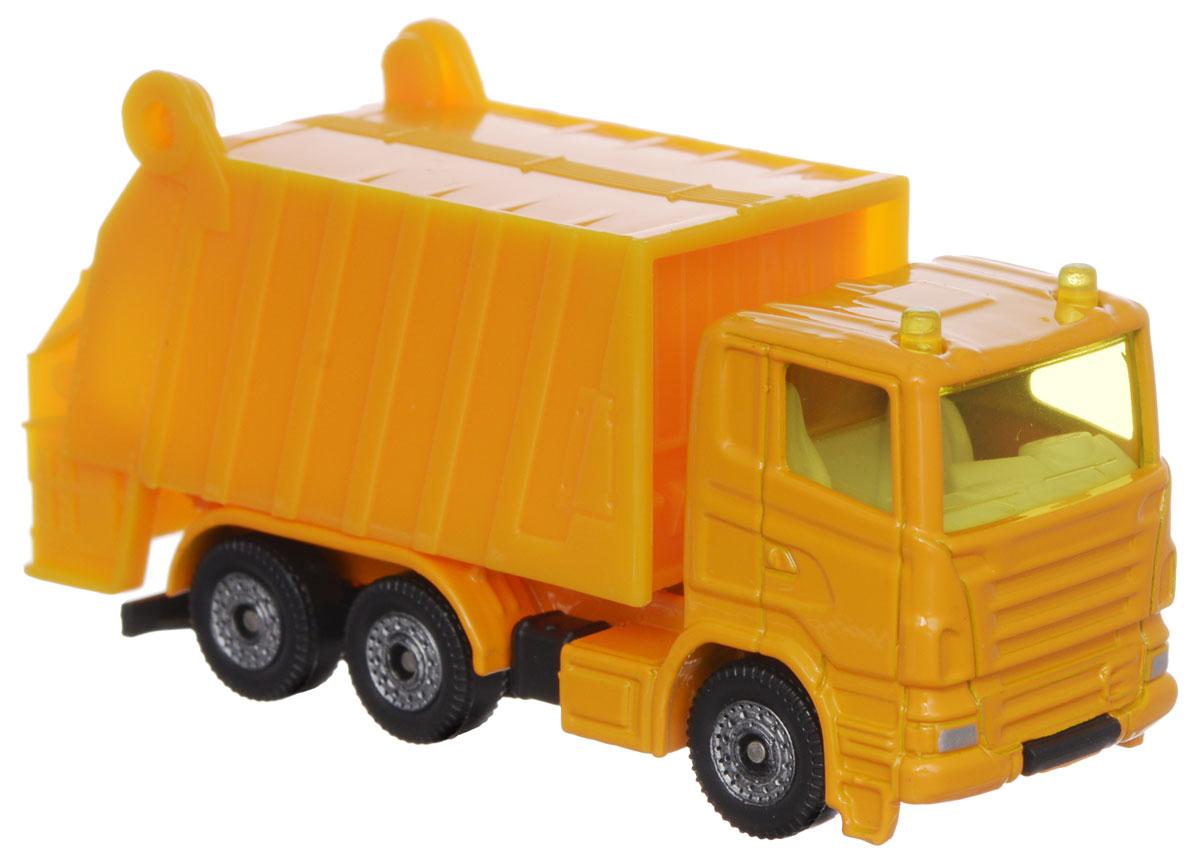 Siku Мусоровоз цвет желтый0811Машинка Siku Мусоровоз выполнена в виде копии настоящего мусоровоза. Такая модель понравится не только ребенку, но и взрослому коллекционеру и приятно удивит вас высочайшим качеством исполнения. Корпус мусоровоза выполнен из металла, стекла кабины водителя выполнены из прозрачного пластика. Колеса машины вращаются. Мусоросборник и кузов подвижны, они поднимаются и опускаются. Модель отличается великолепным качеством исполнения и детальной проработкой, она станет не только интересной игрушкой для ребенка, интересующегося автотехникой, но и займет достойное место в любой коллекции.