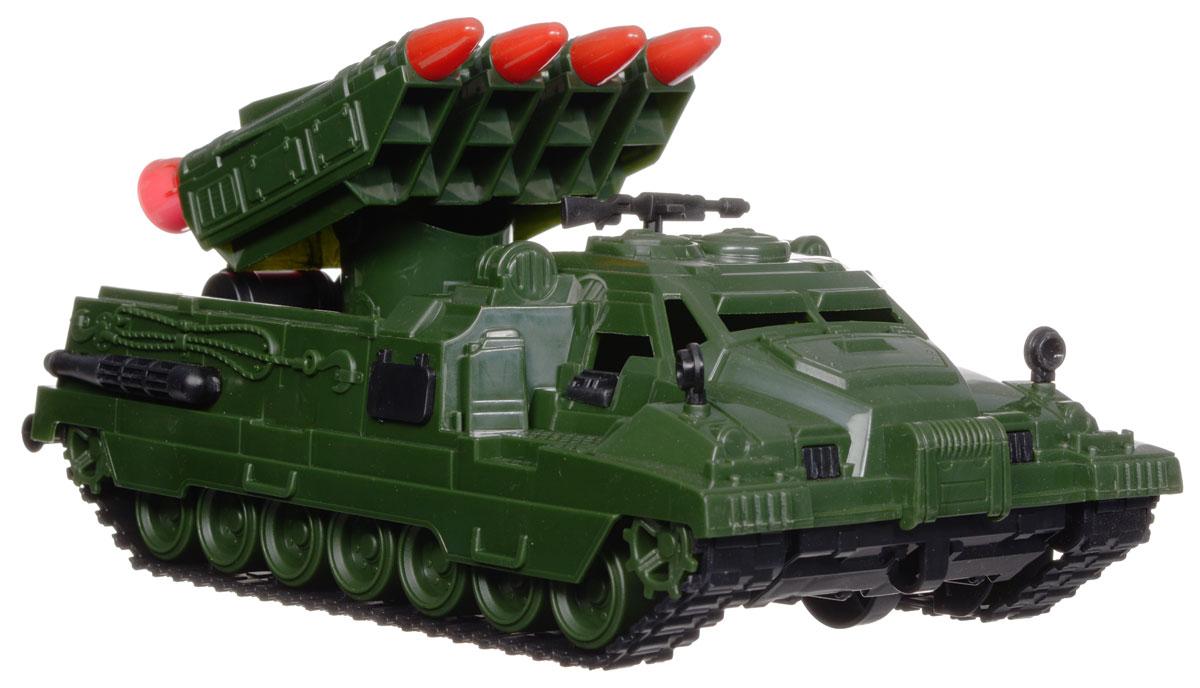 Нордпласт Ракетная установка СтражН-216Ракетная установка Страж понравится любому мальчику, увлекающемуся военной техникой. Игрушка, изготовленная из прочного пластика, выполнена в виде ракетной установки и отличается высокой детализацией. Ракетная установка движется при помощи четырех скрытых колес, гусеницы при этом не двигаются. Башня со встроенными четырьмя ракетами вращается вокруг своей оси, ракеты одновременно могут менять укол наклона. Пулемет на крыше установки также поворачивается вокруг своей оси. Игрушка надолго увлечет вашего малыша и поможет интересно провести время. Ваш ребенок будет в восторге от такого подарка!