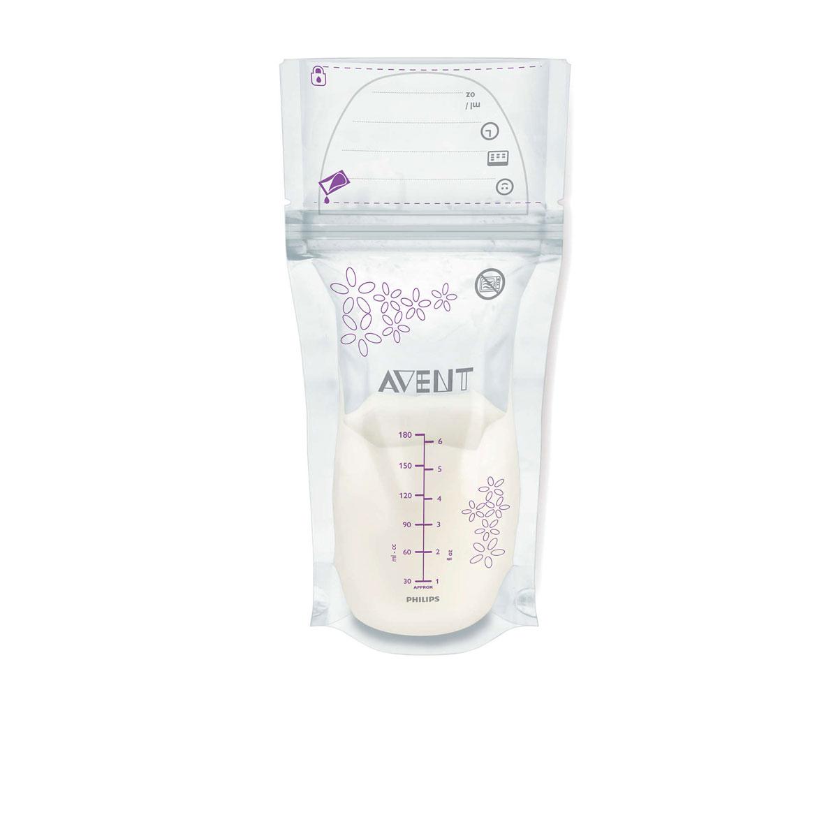 Philips Avent Пакеты для хранения молока, 180 мл, 25 шт SCF603/25SCF603/25Пакеты Philips Avent — это надежное решение для хранения грудного молока. Используйте стерильные пакеты непосредственно после сцеживания или храните их в холодильнике или морозильной камере. Надежная герметичная двойная застежка-молния обеспечивает безопасное хранение грудного молока. Гарантийная пломба свидетельствует о стерильности пакета перед первым использованием и гарантирует абсолютную гигиеничность. Усиленные боковые швы и двухслойный материал обеспечивают дополнительную надежность хранения ценного грудного молока в морозильной камере или холодильнике. Надежное широкое отверстие пакета позволяет удобно наполнять и выливать грудное молоко. Устойчивая конструкция пакета предотвращает опрокидывание, а широкое отверстие пакета обеспечивает удобное наполнение и переливание грудного молока. Эти пакеты можно сложить для удобства хранения в холодильнике или морозильной камере.