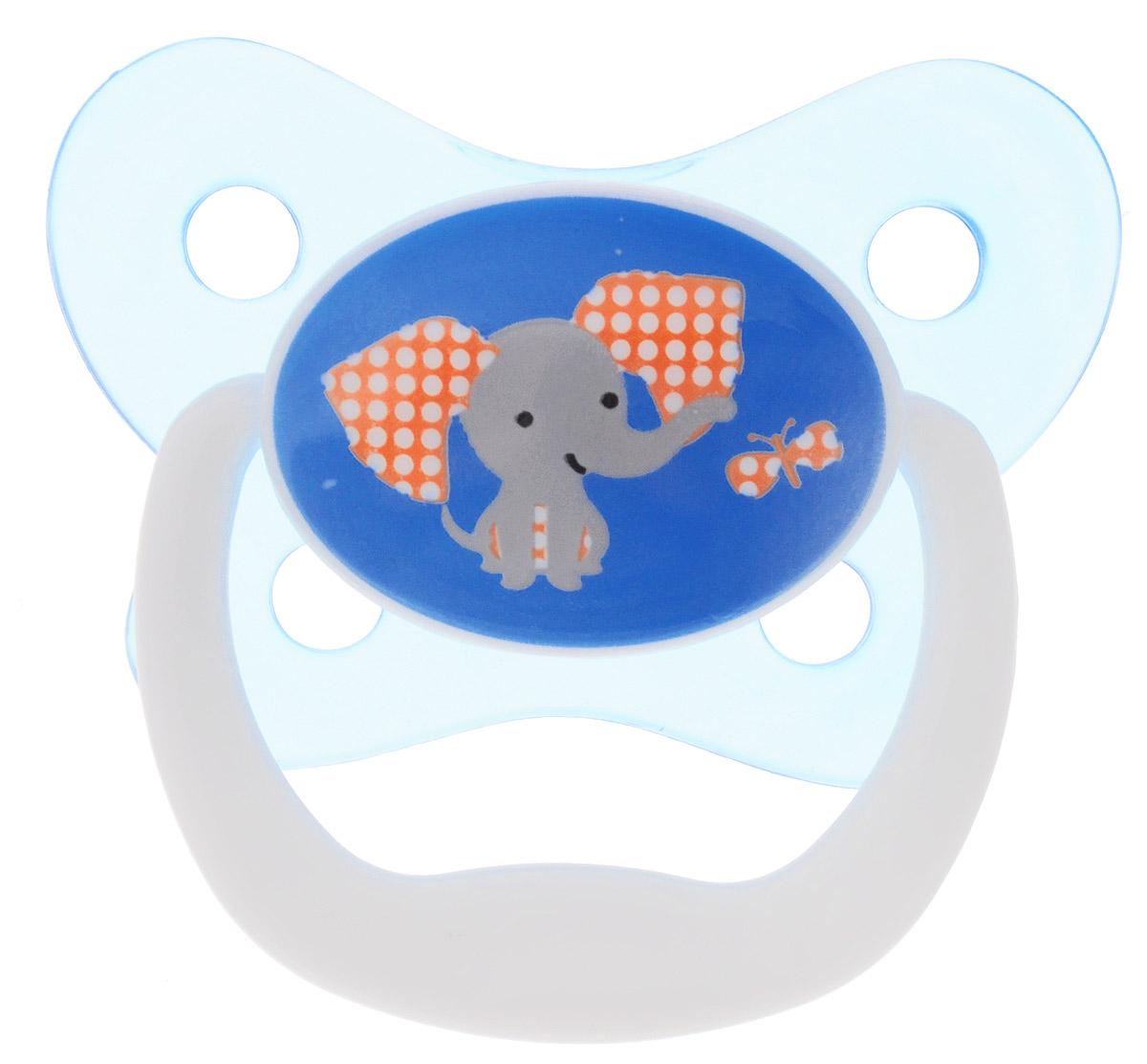 Dr.Brown's Пустышка PreVent Бабочка Слон от 6 до 12 месяцев цвет голубой