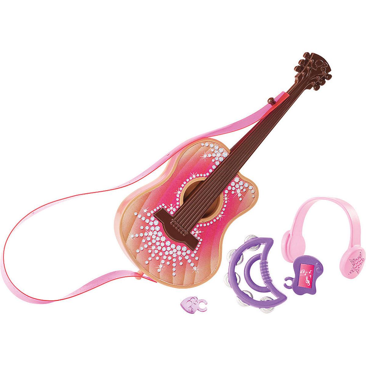 Barbie Мини-набор для декора МузыкальныйCFB50_CFB53Кукла Барби известна своим особым стилем. А теперь и каждая девочка может создать свой особый стиль. Богатый выбор аксессуаров, продающихся по отдельности, сделает дом Барби идеальной декорацией для задуманной истории. Мини-набор для декора Barbie Музыкальный включает в себя гитару, медиатор, наушники, бубен, плеер. Замечательные аксессуары в стиле Барби подойдут к домам с самым разным дизайном (дома продаются отдельно).