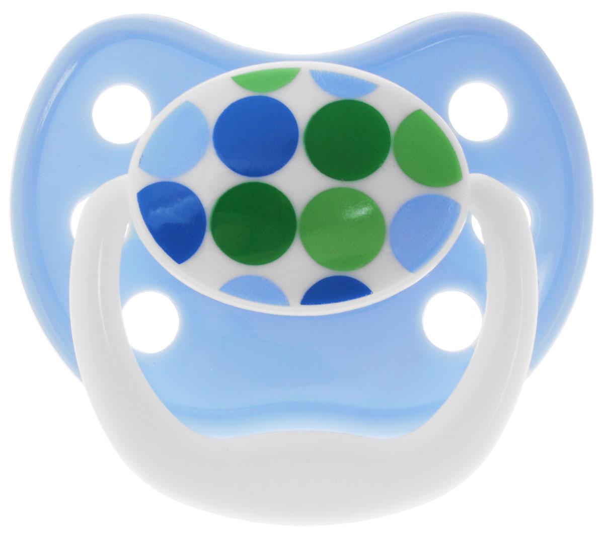 Dr.Browns Пустышка PreVent Классик Круги от 0 до 6 месяцевPV11405_голубой кругПустышка Dr.Browns PreVent Классик. Круги предназначена для новорожденных малышей от 0 до 6 месяцев. Пустышка удовлетворяет естественный сосательный рефлекс и тренирует мышцы губ, языка и челюсти, что играет важную роль в развитии речевых навыков и навыков приема пищи. Мягкая пустышка выполнена из прозрачного гигиеничного силикона, не имеющего вкуса и запаха. Имеет воздушный канал, который впускает воздух, благодаря чему пустышка остается мягкой и гибкой, что минимизирует риск неправильного расположения зубов. Снабжена вентиляционной системой. Пустышка с защелкивающимся колпачком. Не содержит Бисфенол-А.