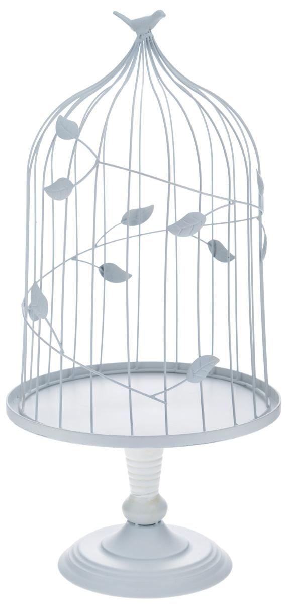 Клетка декоративная Феникс-Презент Птичка, высота 57 см36812Декоративная клетка Феникс-Презент Птичка выполнена из высококачественного металла и украшена изящными коваными листьями. Она отлично подойдет для декора интерьера дома или офиса. Кроме того - это отличный вариант подарка для ваших близких и друзей.