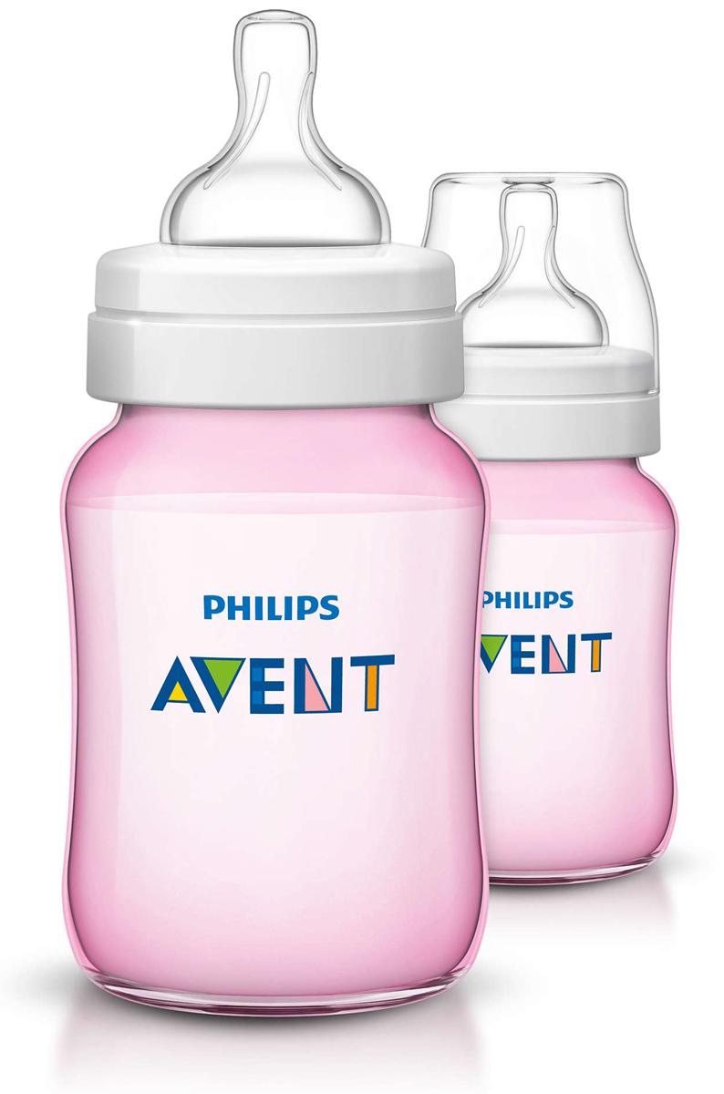 Philips Avent Бутылочки серии Classic+ 260 мл, розовые, 2 шт SCF564/27