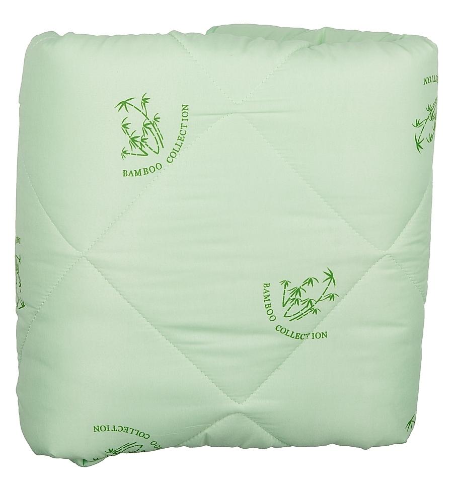 Одеяло Letto бамбук, цвет: зеленый, размер: 140 x 210 смbambuk140Бамбуковое одеяло Letto подарит вам тепло, комфорт и создаст приятную атмосферу в спальне. Универсальное одеяло (имеет 3,5 балла по 5 бальной шкале) прекрасно подойдет для теплых квартир, и для тех, кто предпочитает более легкие одеяла зимой. При этом оно достаточно теплое и для переходных сезонов. Одеяло выполнено из современных наполнителей, его легко стирать, оно быстро сохнет, а плотная стежка не позволяет одеялу сбиваться, - то, что нужно на каждый день. Светлый чехол немаркий и не просвечивается через белье. Наполнитель: смесовое волокно 20% бамбук, 80% файбер; челох: полиэстер.