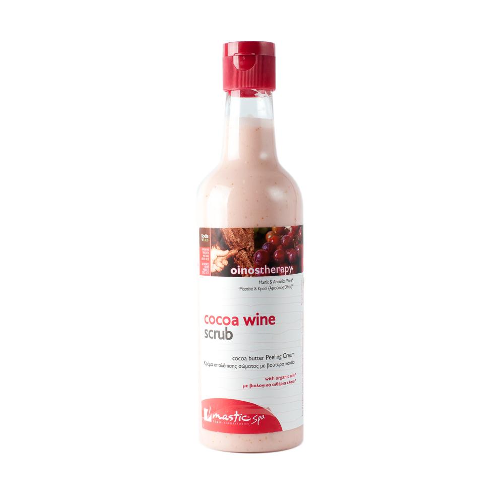 Mastic Spa Скраб для тела Cocoa Wine Scrub; 300 млMS-2-03-11Для нормальной и сухой кожи Обогащённый восхитительными компонентами – маслом какао, ши, мастики и экстрактами жимолости и конского каштана – крем-скраб обеспечит вашему телу 24-часовое увлажнение. Он идеально очищает, выравнивает и увлажняет даже очень сухую кожу, не травмируя её. Вино «Ариуса» укрепляет и восстанавливает жизненную энергию, повышает тонус и делает кожу мягкой, гладкой, сияющей, выглядящей на несколько лет моложе. Экстракты жимолости и конского каштана стимулируют обменные процессы и так же помогают придать коже молодой и здоровый вид.