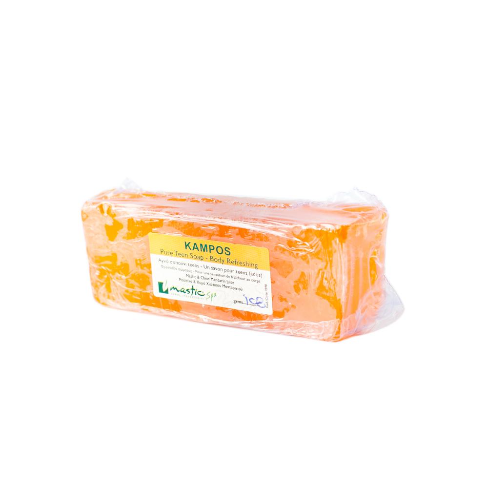 Mastic Spa Мыло для тела Kampos;100 млMS-2-14-02Для всех типов кожи. Для всех возрастов Свежесть к свежести… Восхитительный аромат только что выжатого сока мандаринов, выросших под солнцем Хиоса. Чудесное и озорное сочетание янтарной тёплой мастики и цитрусовой прохлады для вашей кожи.