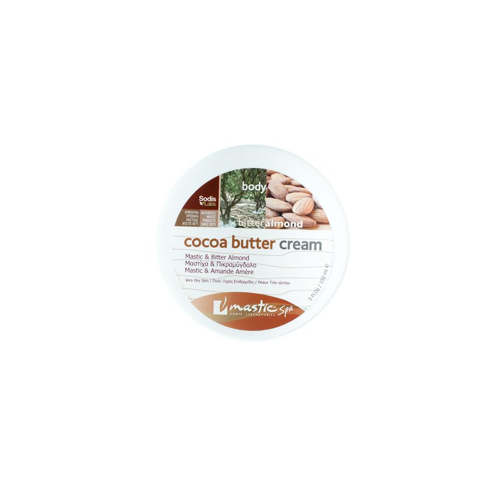 Mastic Spa Крем для тела Cocoa Butter Cream Almond; 150 млMS-2-16-01Для очень сухой кожи Крем для очень сухой кожи с мастикой, миндалём, мастичным маслом, а также волшебными маслами ши, риса и какао. Повышает тонус и упругость кожи, выравнивает её цвет. Великолепно увлажняет и смягчает кожу и придаёт ей шелковистый блеск.
