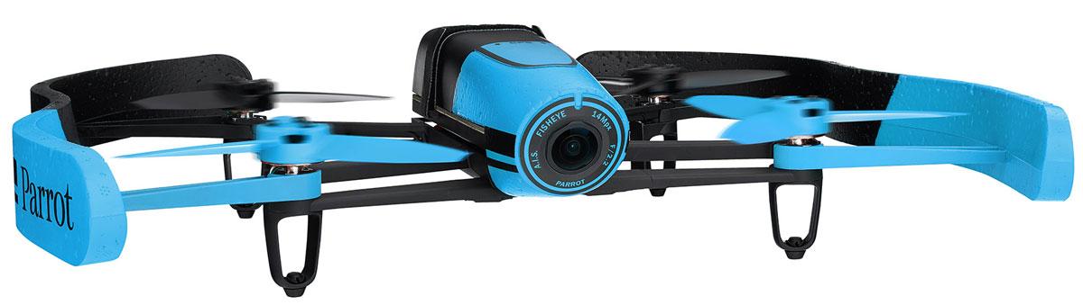 Parrot Квадрокоптер на радиоуправлении Bebop Drone цвет синийPF722007Благодаря своему малому весу (400 г) и конструкции из ABS-пластика, усиленного стекловолокном, квадрокоптер Bebop Drone от Parrot отличается одновременно прочностью и безопасностью. В случае удара система отдает команду автоматической остановки движения винта, а при необходимости экстренной посадки режим Аварийная посадка позволяет немедленно приземлить квадрокоптер. Наконец, входящий в комплект балансир из ПФО гарантирует стабильность траектории полета в помещении. Квадрокоптер Bebop от Parrot обладает беспрецендентными возможностями, не имевшими до сих пор аналогов среди характеристик игровых дронов: бортовой компьютер Parrot Bebop мощностью в 8 раз выше по сравнению с компьютером Parrot AR.Drone 2.0. Двухъядерный процессор Parrot P7 для повышенной точности расчетов. Четырехъядерный графический процессор. Внутренняя флэш-память емкостью до 8 ГБ. Вся конструкция держится на магниевой основе, выполняющей функции электромагнитного экранирования и...