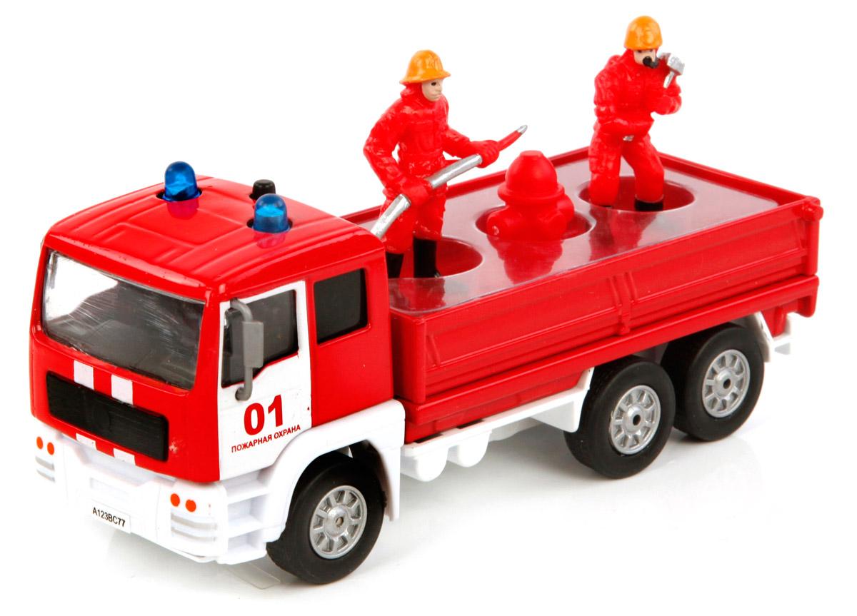 Пламенный мотор Машинка Пожарная команда870088По дорогам России - это серия коллекционных металлических моделей ТМ Пламенный мотор. Пожарная команда представляет собой уменьшенную копию настоящей машины, выполненную в масштабе 1:32. Игрушка оснащена инерционным механизмом, при нажатии на кнопку на крыше включается свет маячков и звук двигателя и спецсигнал.