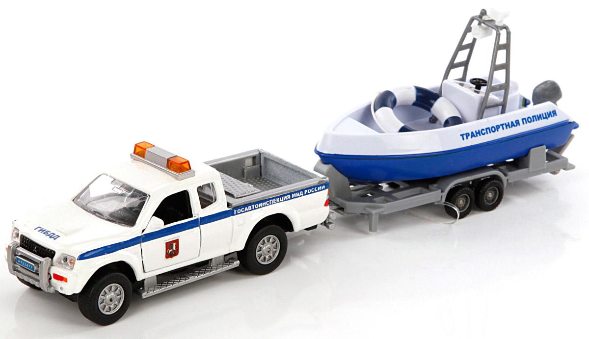 Пламенный мотор Машина Mitsubishi Полиция патрульный катер870105