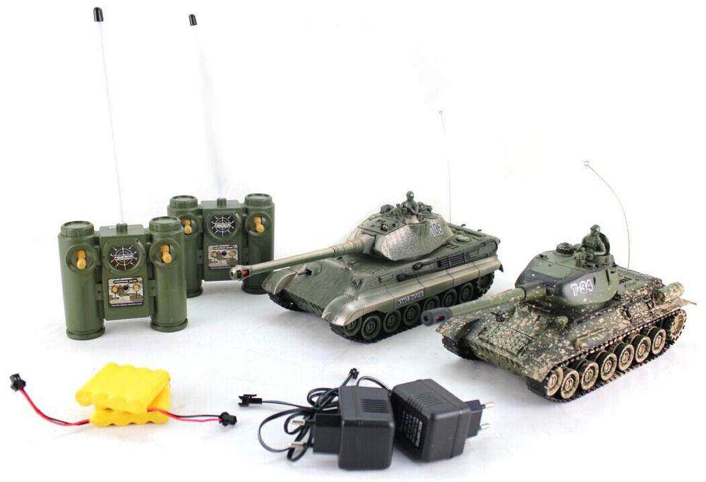 Пламенный мотор Набор танков на радиоуправлении Т-34 vs King Tiger ( 870164 )