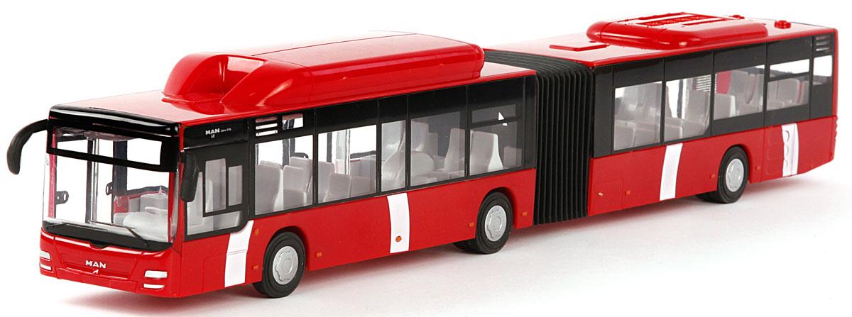 Пламенный мотор Автобус городской MAN цвет красный870167Городской транспорт - так называется серия машинок Пламенного мотора. Автобусы и троллейбусы каждый день привозят пассажиров к месту назначения и строго по расписанию! Игрушки функциональны и выглядят реалистично: двери открываются, а внутри есть ряды пассажирских кресел. Остается только подобрать фигурки, подходящие по размеру, и отправиться в увлекательное путешествие. Игрушка с инерционным механизмом, выполнена в масштабе 1:43.