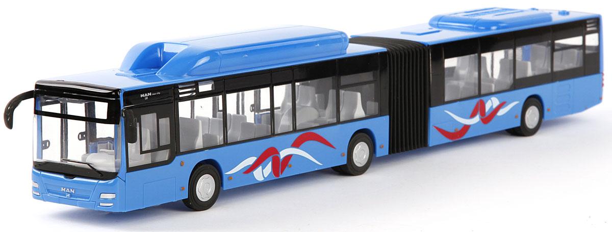 Пламенный мотор Автобус городской MAN цвет синий870169Городской транспорт - так называется серия машинок Пламенного мотора. Автобусы и троллейбусы каждый день привозят пассажиров к месту назначения и строго по расписанию! Игрушки функциональны и выглядят реалистично: двери открываются, а внутри есть ряды пассажирских кресел. Остается только подобрать фигурки, подходящие по размеру, и отправиться в увлекательное путешествие. Игрушка с инерционным механизмом, выполнена в масштабе 1:43.