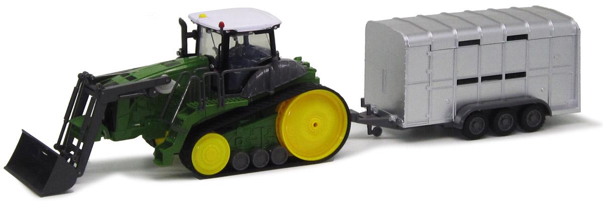 Пламенный мотор Трактор гусеничный на радиоуправлении с полуприцепом 6 каналов87572