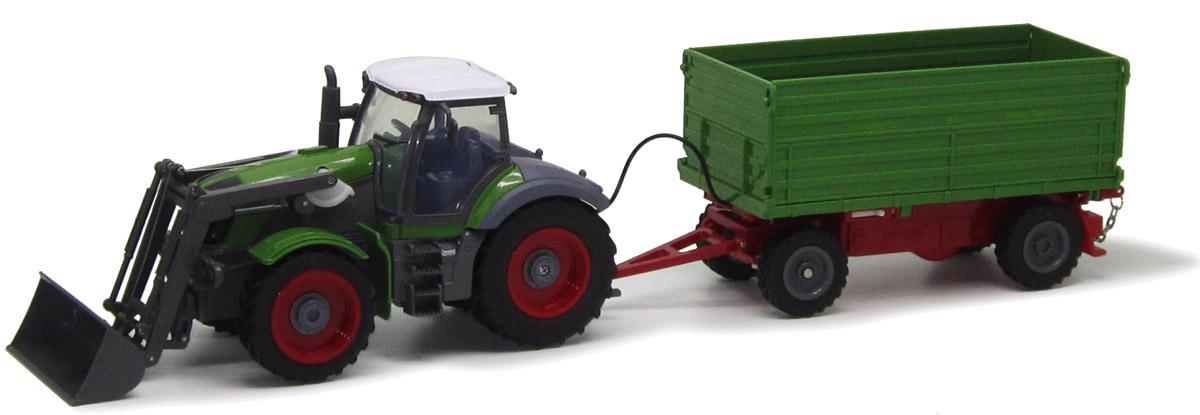 Пламенный мотор Трактор колесный на радиоуправлении с полуприцепом 8 каналов