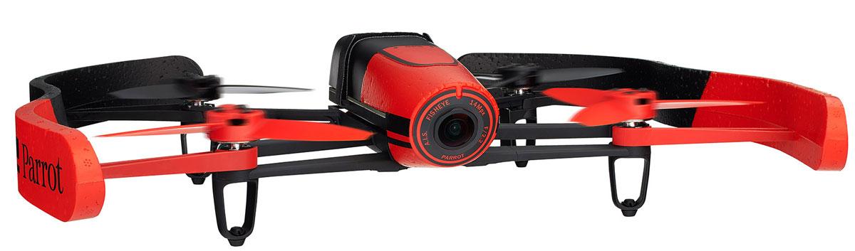 Parrot Квадрокоптер на радиоуправлении Bebop Drone цвет красныйPF722006Благодаря своему малому весу (400 г) и конструкции из ABS-пластика, усиленного стекловолокном, квадрокоптер Bebop Drone от Parrot отличается одновременно прочностью и безопасностью. В случае удара система отдает команду автоматической остановки движения винта, а при необходимости экстренной посадки режим Аварийная посадка позволяет немедленно приземлить квадрокоптер. Наконец, входящий в комплект балансир из ПФО гарантирует стабильность траектории полета в помещении. Квадрокоптер Bebop от Parrot обладает беспрецендентными возможностями, не имевшими до сих пор аналогов среди характеристик игровых дронов: бортовой компьютер Parrot Bebop мощностью в 8 раз выше по сравнению с компьютером Parrot AR.Drone 2.0. Двухъядерный процессор Parrot P7 для повышенной точности расчетов. Четырехъядерный графический процессор. Внутренняя флэш-память емкостью до 8 ГБ. Вся конструкция держится на магниевой основе, выполняющей функции электромагнитного экранирования и...