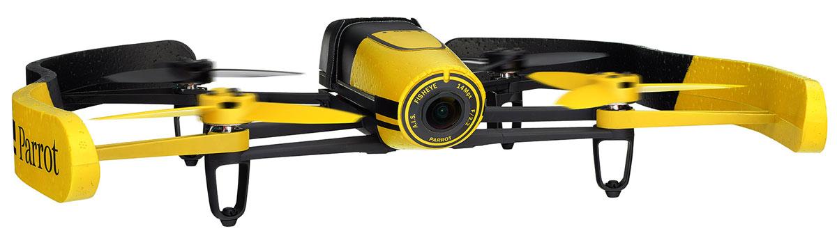 Parrot Квадрокоптер на радиоуправлении Bebop Drone цвет желтыйPF722008Благодаря своему малому весу (400 г) и конструкции из ABS-пластика, усиленного стекловолокном, квадрокоптер Bebop Drone от Parrot отличается одновременно прочностью и безопасностью. В случае удара система отдает команду автоматической остановки движения винта, а при необходимости экстренной посадки режим Аварийная посадка позволяет немедленно приземлить квадрокоптер. Наконец, входящий в комплект балансир из ПФО гарантирует стабильность траектории полета в помещении. Квадрокоптер Bebop от Parrot обладает беспрецендентными возможностями, не имевшими до сих пор аналогов среди характеристик игровых дронов: бортовой компьютер Parrot Bebop мощностью в 8 раз выше по сравнению с компьютером Parrot AR.Drone 2.0. Двухъядерный процессор Parrot P7 для повышенной точности расчетов. Четырехъядерный графический процессор. Внутренняя флэш-память емкостью до 8 ГБ. Вся конструкция держится на магниевой основе, выполняющей функции электромагнитного экранирования и...
