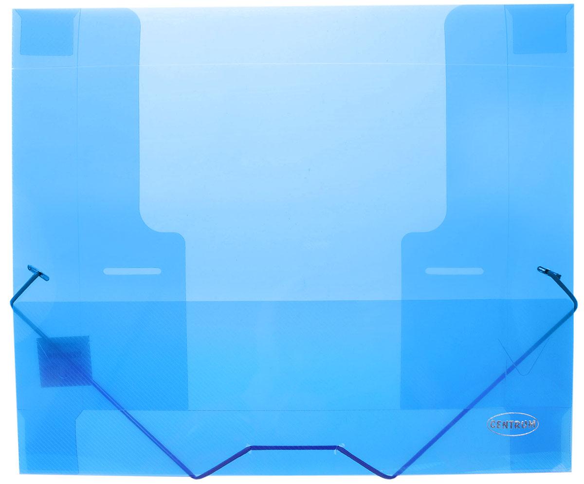 Centrum Папка на резинке формат А4 цвет синий80020_синийПапка на резинке Centrum станет вашим верным помощником дома и в офисе. Это удобный и функциональный инструмент, предназначенный для хранения и транспортировки больших объемов рабочих бумаг и документов формата А4. Папка изготовлена из износостойкого высококачественного пластика. Состоит из одного вместительного отделения. Закрывается папка при помощи прочной резинки. Папка - это незаменимый атрибут для любого студента, школьника или офисного работника. Такая папка надежно сохранит ваши бумаги и сбережет их от повреждений, пыли и влаги.