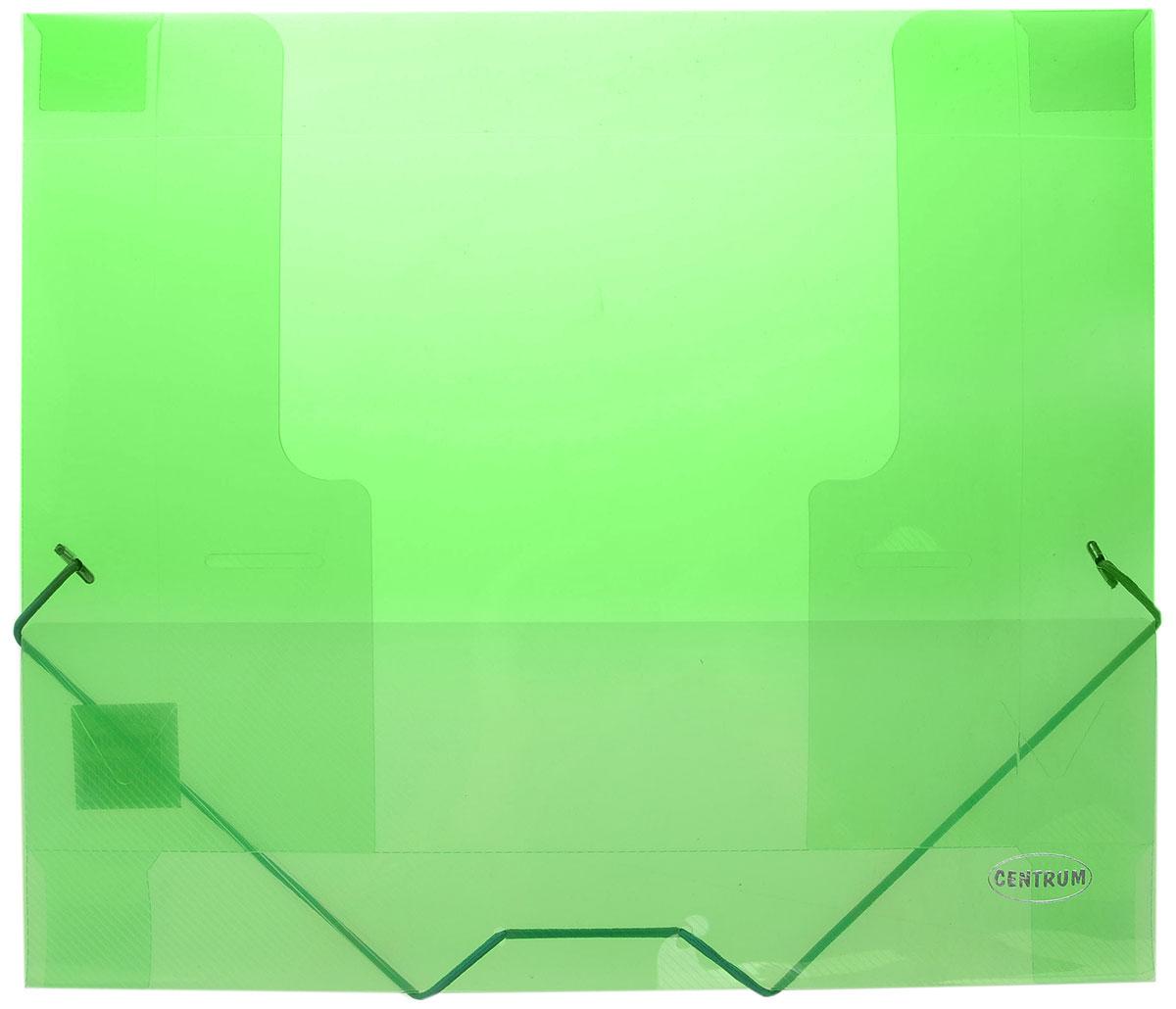Centrum Папка на резинке формат А4 цвет зеленый80020_зеленыйПапка на резинке Centrum станет вашим верным помощником дома и в офисе. Это удобный и функциональный инструмент, предназначенный для хранения и транспортировки больших объемов рабочих бумаг и документов формата А4. Папка изготовлена из износостойкого высококачественного пластика. Состоит из одного вместительного отделения. Закрывается папка при помощи прочной резинки. Папка - это незаменимый атрибут для любого студента, школьника или офисного работника. Такая папка надежно сохранит ваши бумаги и сбережет их от повреждений, пыли и влаги.