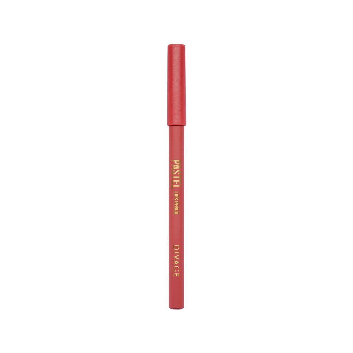DIVAGE Карандаш для губ PASTEL, тон № 2208018728-001Мягкий карандаш подчеркивает контур губ, делая их форму более выразительной. Карандаш имеет удобную форму треугольника, благодаря которой не скатывается с плоской поверхности. Содержит смягчающие масла жожоба, соевых бобов, экстракт алоэ вера, витамины Е. Масло жожоба и соевых бобов придаёт контуру кондиционирующее и смягчающее свойства. Оно регулирует водно-липидный баланс, предохраняя кожу губ от сухости. Открой для себя сочетание глубокого цвета и деликатного ухода с карандашами PASTEL от DIVAGE!